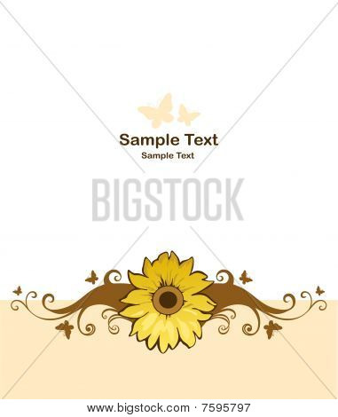 Background with floral design element