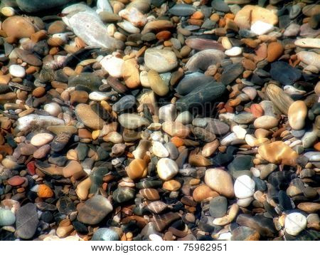 Seaside Pebble Background