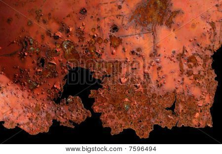 Pattern Of A Rusted Surface On Black Background