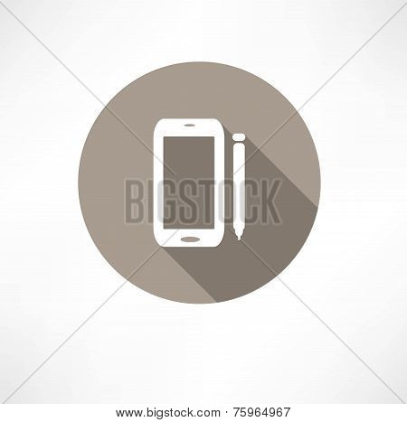 Smartphone with a stylus icon