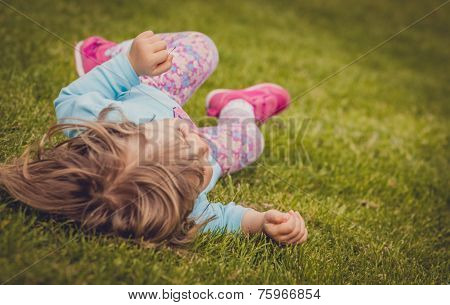Rolling down on the grass