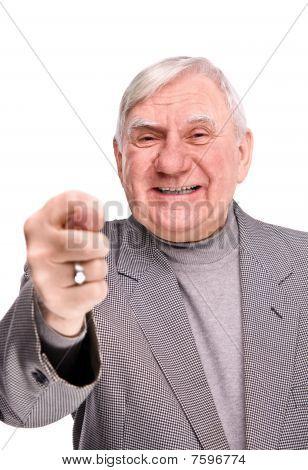 Elderly Men Showing Fig