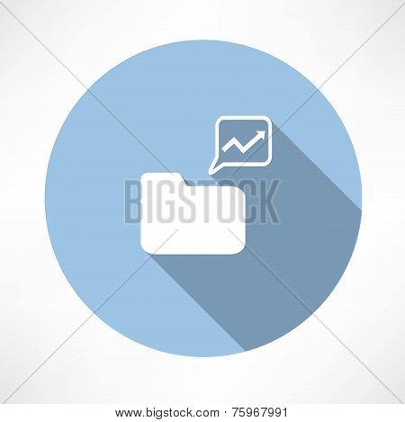 folder with diagram icon