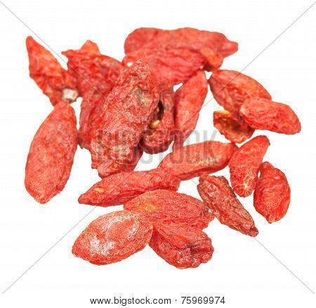 Dried Goji Berries Isolated