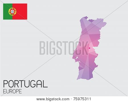 Set Of Infographic Elements For The Country Of Portugal