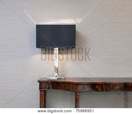Sideboard With Table Lamp