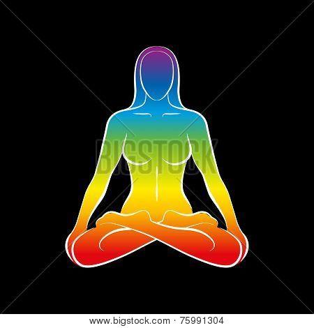 Woman Body Soul Rainbow Black