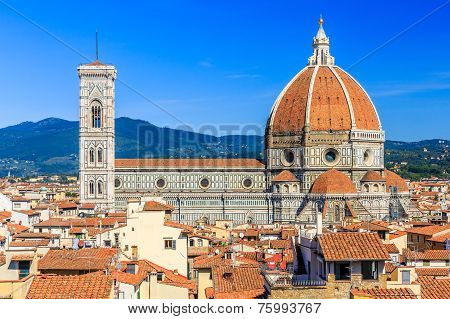 The Cathedral and the Brunelleschi Dome, Florence Italy poster