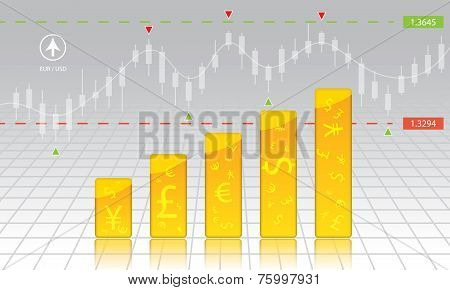 currency exchange, chart, forex, stock, money