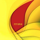 Abstract yellow light vector background. forms a smooth transition and waves. eps 10 poster