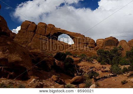 Turret Arch, Arches National Park, Utah, Usa