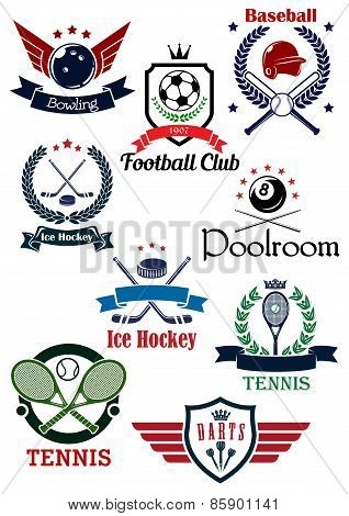 Creative sports logos and banners