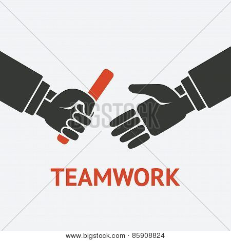 relay teamwork concept symbol