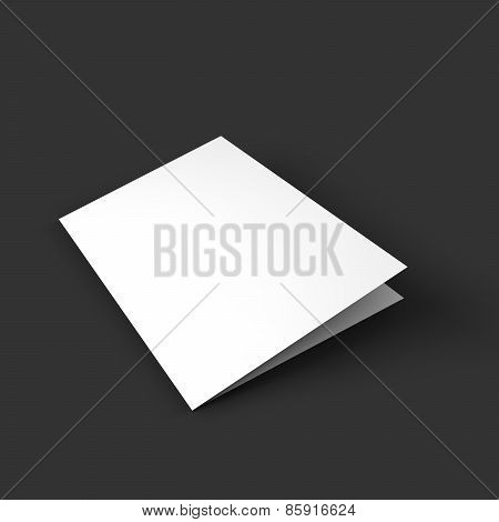 Magazine, booklet, postcard, business card or brochure mockup template.
