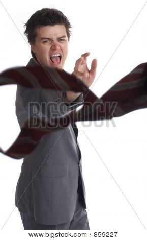 Business Man hates tie (the series)