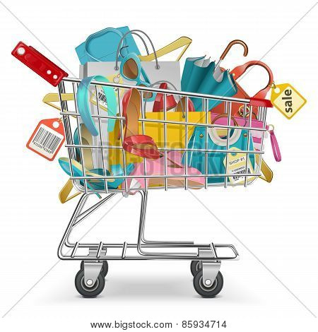 Vector Trolley With Purchase
