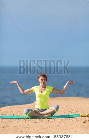Yoga practice. Surya Namaskara movements sequence
