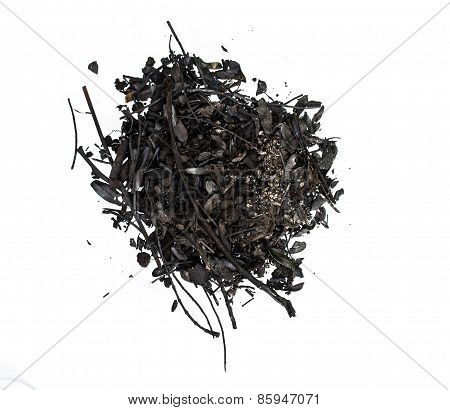 Plant Ash On White Background