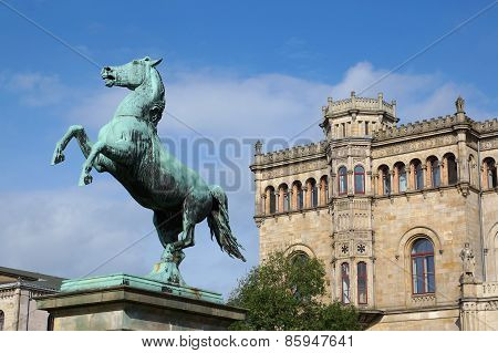 Saxon Steed and Leibniz University in Hannover Germany