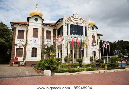 MALACCA, MALAYSIA - CIRCA JANUARY, 2015: The Proclamation of Independence Memorial is a museum in Malacca City. Malacca was included in the list of UNESCO World Heritage Sites in 2008.