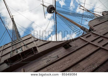 MALACCA, MALAYSIA - CIRCA JANUARY, 2015: The Maritime Museum  it was officially opened to the public by on 13 June 1994. Museum main exhibits the replica ship of Flor de la Mar with 34 metres.