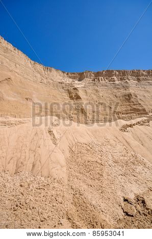 Sand Pit And Blue Sky
