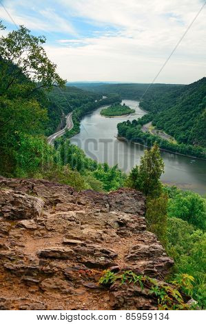 Mountain river view from Delaware Water Gap