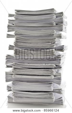 Large stack of papers
