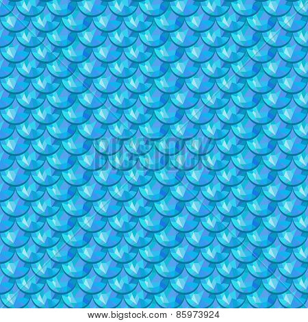 Seamless blue river fish scales