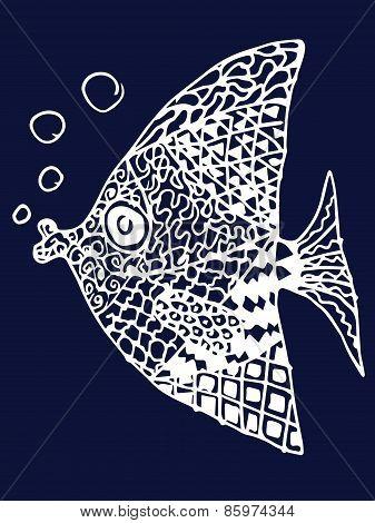Zentangle Fish.