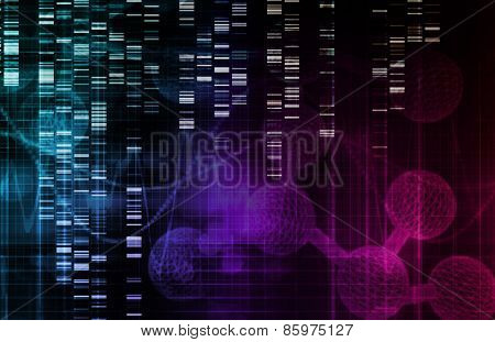 Genetic Background with DNA Genome Sequence Art