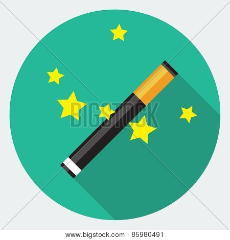 Vector magic wand icon, design element for mobile and web applications, eps 10 poster