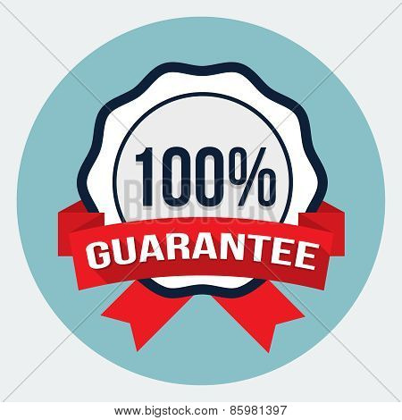 Vector 100% satisfaction guaranteed badge