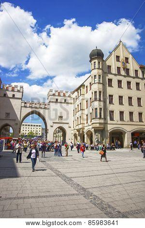 Karlstor Fortress Gate In Munich
