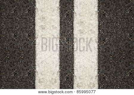 Double Traffic White Line