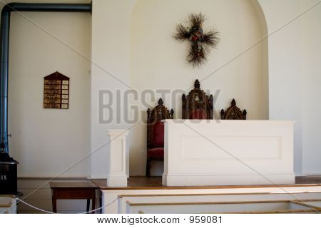 Interior Of Small Town Church 018