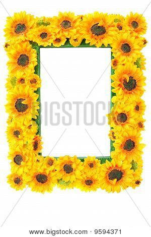 Photo Frame With Sunflowers