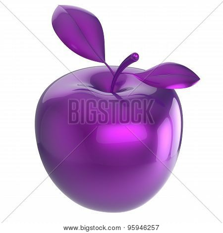 Apple purple blue research experiment food nutrition fruit antioxidant fresh ripe exotic danger poison anomaly unusual agriculture organic funny icon poster