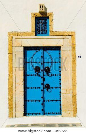 Blue Arabian Door