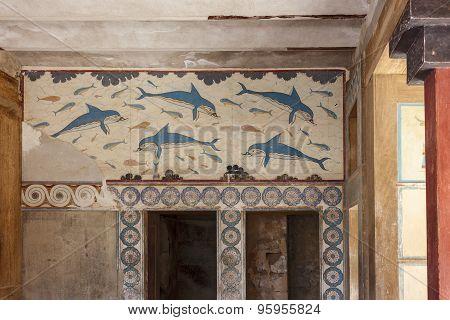 Queen s Megaron. Palace of Knossos, Crete, Greece