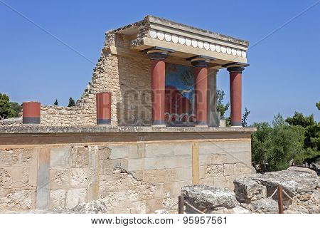 Knossos palace in Crete