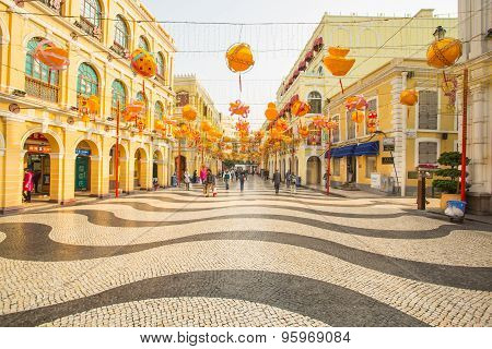 The Senado Square In Macau, China