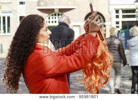 Orange Wig Selfie