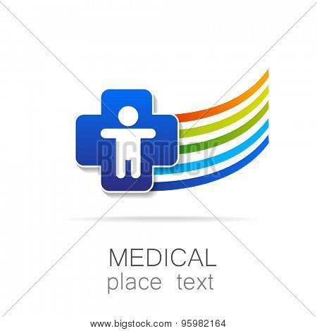 Medical logo - the concept for sign a medical institution, a center, foundation, organization, association, hospital. poster