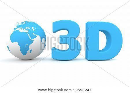 Global 3D - Matt Blue