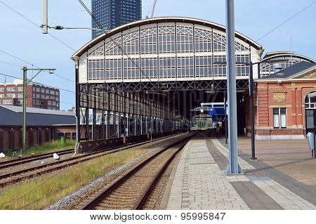 View on the railway station Hollands Spoor of The Hague in the Netherlands