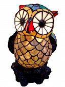 ceramics owl toy with big eyes closeup poster