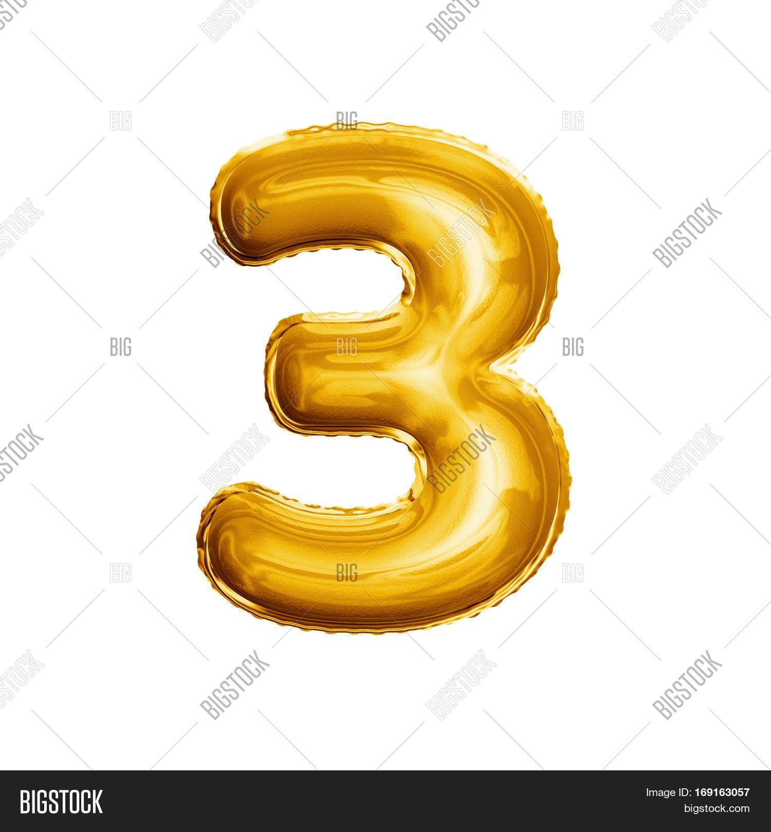 Balloon Number 3 Three Image Photo Free Trial Bigstock
