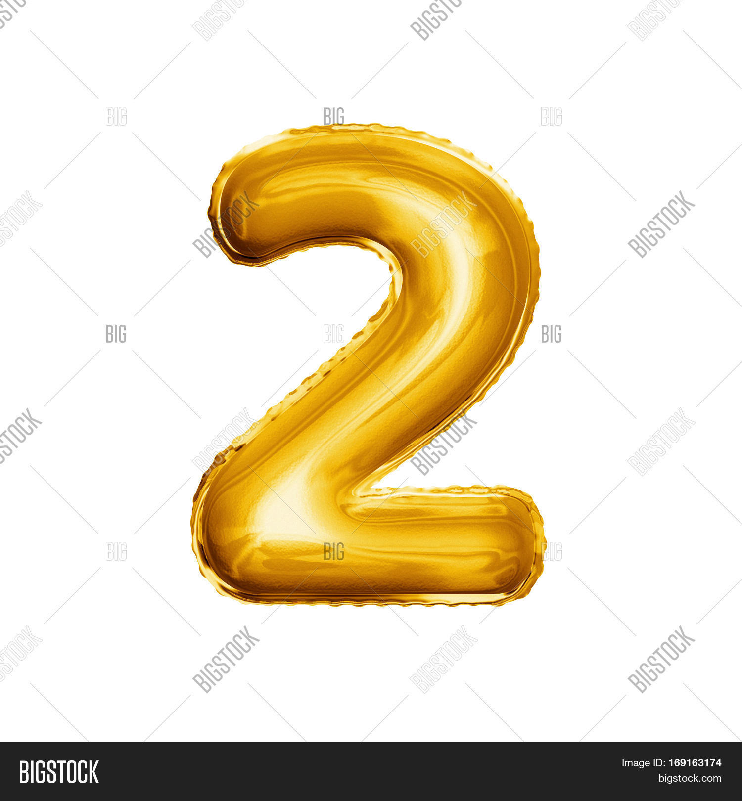 Balloon Number 2 Two Image Photo Free Trial Bigstock Baloon Realistic 3d Isolated Gold Helium Abc Alphabet Golden Font Text