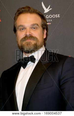 David Harbour arrives at the Weinstein Company and Netflix 2017 Golden Globes After Party on Sunday, January 8, 2017 at the Beverly Hilton Hotel in Beverly Hills, CA.